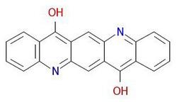 Pigment-violetne-19-molekulaarstruktuur